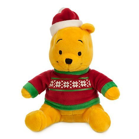 Winnie the Pooh Holiday Plush - Mini Bean Bag - 7'' by Disney