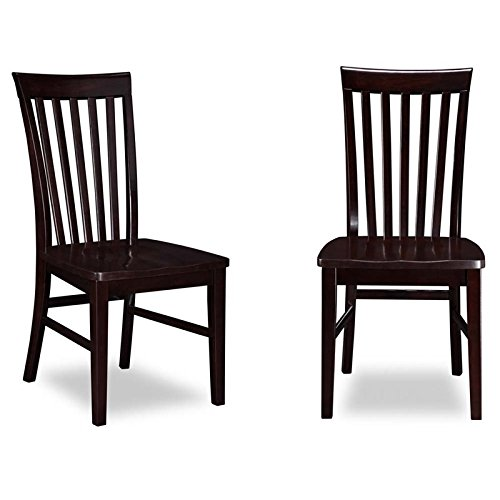 Atlantic Furniture Mission Dining Side Chair in Espresso (Set of 2)