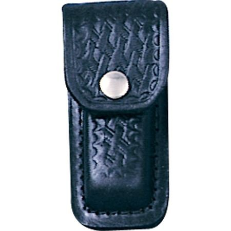 Sheath 200 Leather Belt Pouch Sheath Fits 3  To 3 1 2  Knife With Black Basketweave Leather Construction