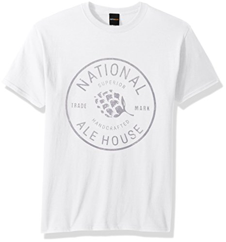Fifth Sun Men's Man Cave Graphic Tees, White//Ale House, x-Large