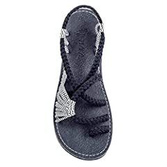 Plaka are a new boho womens sandals that have been hand-woven with love. Whether you are going to your best friend's wedding, to the office or for a long walk on the beach, Plaka fashion flat ladies sandals for teenage girls and woman are a M...