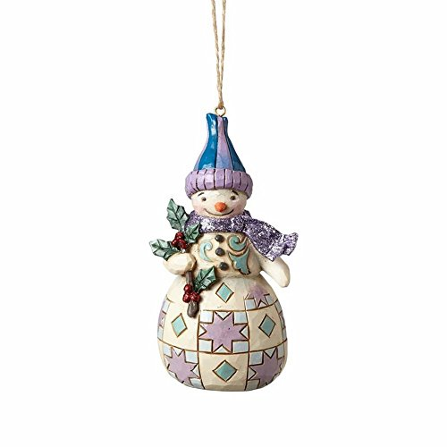 Enesco-Gift 4058750 Wonderland Snowman with Holly Ornament Multicolor