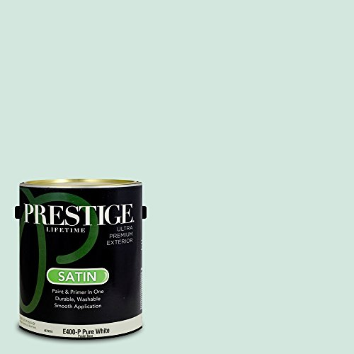 Prestige Paints Exterior Paint and Primer In One, 1-Gallon, Satin,  Comparable Match of Benjamin Moore Taffeta Green