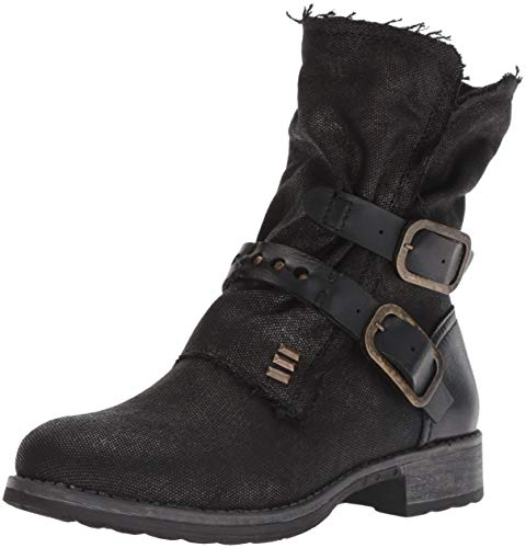 Dirty Laundry by Chinese Laundry Women's TYCEN Motorcycle Boot, Black Canvas, 6 M US ()