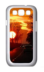 Sunset Polycarbonate Hard Shell Case Cover for Samsung Galaxy S3 / SIII/ I9300 - White
