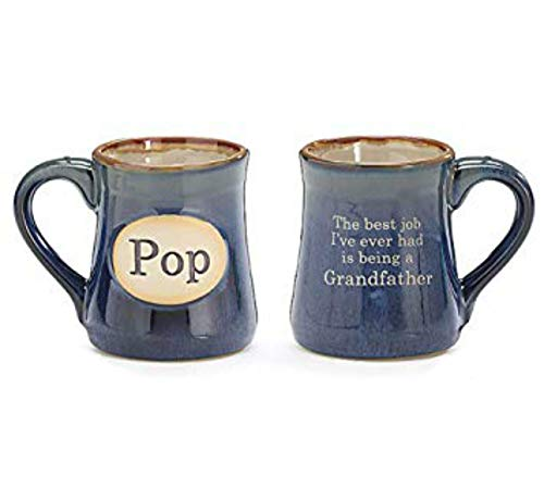 Pop Best Job Ever Porcelain Navy Blue Coffee Tea Mug Cup 18oz Gift Box