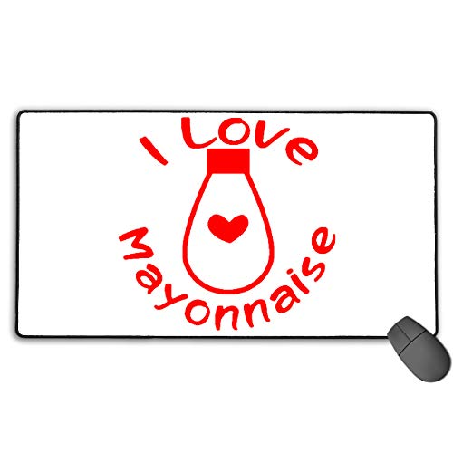 I Love Mayonnaise Mouse Mat/Pad Stitched Edges 13.75