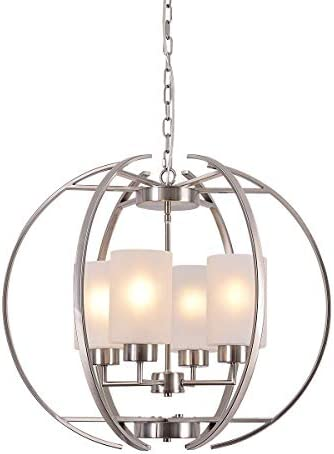 Farmhouse Chandelier Light Fixture 4-Light Ceiling Flush Mount