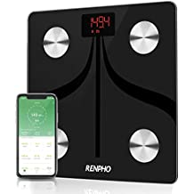 Bluetooth Body Fat Scale by RENPHO, USB Rechargeable Smart Digital Bathroom Weight Scale with iOS & Android App Wireless BMI Scale for Body Weight, Body Fat%, BMI, Water, Muscle Mass, 396 lbs