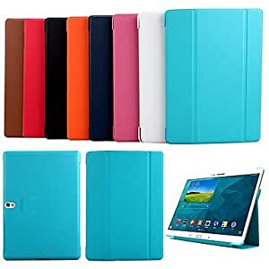 SHERRYLEE Newest Ultrathin Intelligent Dormant Solid Color PU Leather Case with Stand for Samsung Tab S 10.5 T800 , Pink