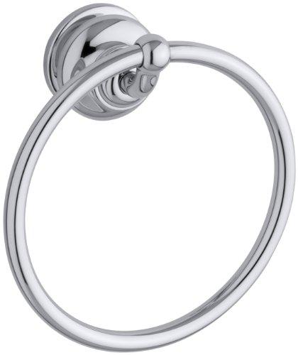KOHLER K-12165-CP Fairfax Bathroom Towel Ring, Polished Chrome