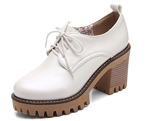 HiTime à Blanc Chaussures Lacets Femme fww0AxP7qY