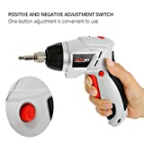 Akabsh Electric Screwdriver Drill, JOUSTMAX JST24802L Electric Two-Way Screwdriver Set Mini Household Charging Scre