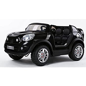 KIDS-CAR power wheels MINI COOPER 2 SEAT LICENSED car to ride With Parent REMOTE Control. 12V BATTERY Operated. Ride on car Electric power cars MP3. Recommended for BOYS and GIRLS 3 to 7 years.