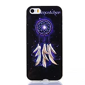 LCJ Feather Windbell of Starry Sky Pattern Silica Gel Soft Case for iPhone 5/5S by ruishername