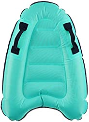 Inflatable Surf Body Board with Handles Pool Float Boogie Board Portable Bodyboard Swimming Floating Mat Water