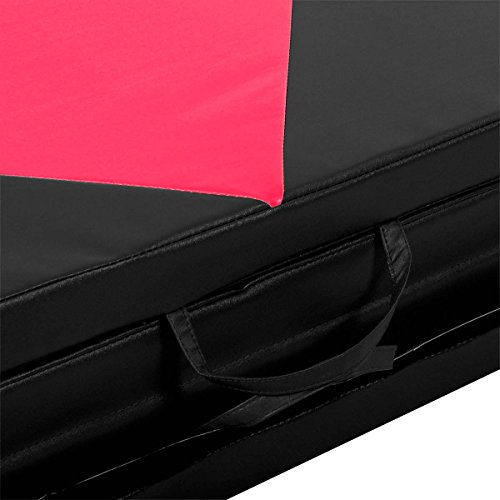 COSTWAY 4'X10'X2 Gymnastics Mat Folding Panel Thick Gym Fitness Exercise Pink/Black New by COSTWAY (Image #9)