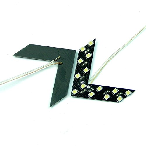 Ecosin Fashion 14 SMD LED Arrow Panel For Car Rear View Mirror Indicator Turn Signal Light - Led Blue Arrow Mirrors
