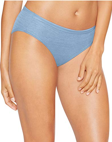 Hanes Womens Ultimate ComfortSoft Bikinis 4-Pack, 6, Blue