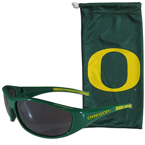 NCAA Oregon Ducks Adult Sunglass and Bag Set, - Sunglasses U Of O