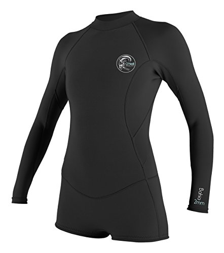 O'Neill Wetsuits Womens 2/1 mm Bahia Long Sleeve Spring Wetsuit, Black, 8
