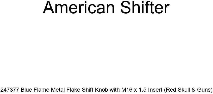 American Shifter 247047 Blue Flame Metal Flake Shift Knob with M16 x 1.5 Insert Green Nuclear Hazard Symbol