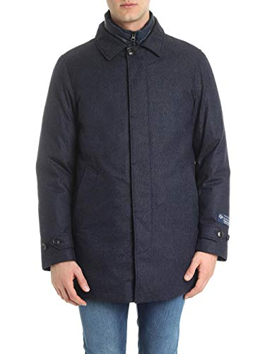Woolrich Cappotto Solid Cappotto Blue Solid Woolrich Chukker Chukker Ixwtxgq