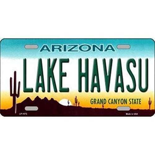 Jacksoney Tin Sign New Aluminum Lake Havasu Arizona Novelty Metal License Plate Metal Sign 11.8 x 7.8 Inch