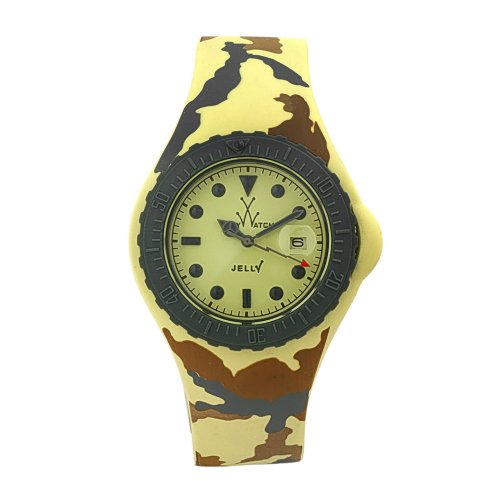 Toy Watch Women's JYA03SY Jelly Army Yellow Camo Rubber (Womans Dynasty Watch)