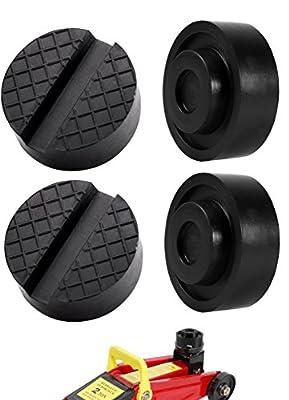 Jack Pad Universal Slotted Frame Rubber Automotive Jack Pad Medium Size 4 Pack