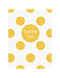 Polka Dot Thank You Note Cards, Yellow, 8 Count BOBEBE Online Baby Store From New York to Miami and Los Angeles