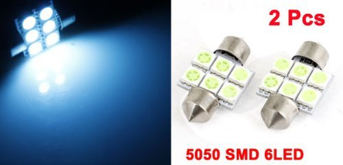 Amazon.com: eDealMax vehículo Hielo Azul 6 LED SMD 5050 Adorno de luz de la lámpara de techo 31 mm de bulbo 3175 2pcs: Automotive