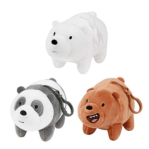 We Bare Bears Cartoon Network Ice Bear Grizzly Panda Plush Teddy Bear Gift Set of 3