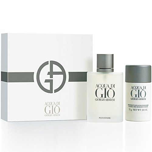 gio Armani For Men Edt Spray 3.4 Oz & Alcohol Free Deodorant Stick 2.6 Oz (Acqua Di Gio Deodorant Spray)