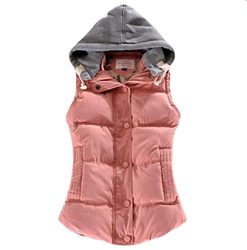 飢え擬人会社Nicellyer 婦人用フードの簡単なスペルの色の特大のオーバーコート?ベスト