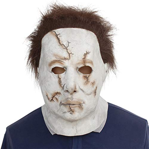 Novelty Creepy Scary Horror Halloween Cosplay Party Costume Latex Head Mask - Michael Myers -