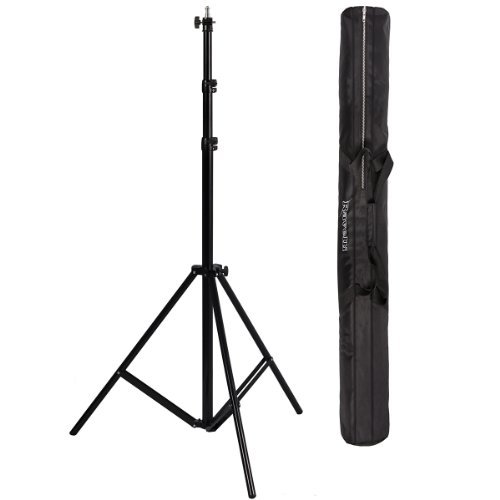 Ravelli ALS Full 10' Air Cushioned Light Stand with Included Adaptor to Also Support 1/4'' and 3/8'' Photo Equipment and Heavy Duty Carry Bag by Ravelli