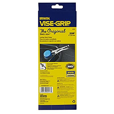 "IRWIN VISE-GRIP Original Locking Chain Clamp, 9"", 27ZR"