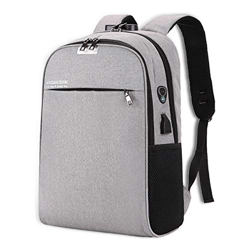 Laptop Backpack, Anti Theft Backpack Travel Bag, Computer Bag with USB Charging Port and Combination Lock Fits 15.6