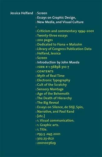 screen essays on graphic design
