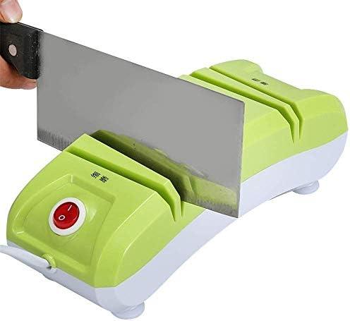 小さな家庭用ナイフ削り、電動自動多機能高速ファイングラインダー砥石ホームキッチンツール-H 2.55インチ、砥石ナイフ