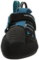 Scarpa Instinct Vsr Climbing Shoe, Black/Azure, 40 EU/7.5 M US