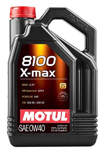 Motul 104533 8100 X-Max 0W40 Synthetic Engine Oil-5 Liter, 169.05 Fluid_Ounces