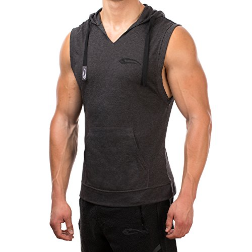 Fitness À Sport Sweat Smilodox Capuche Anthracite Sportshirt Loisirs Formation amp; Hoodie Manches Homme Pull Pour Sans fUqzqx8d