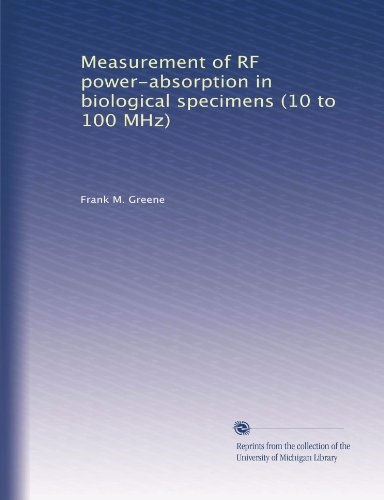 Measurement of RF power-absorption in biological specimens (10 to 100 MHz) -