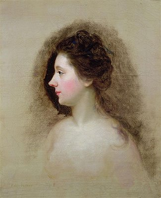Hone (Portrait of Catherine Maria 'Kitty' Fisher, c.1765) Canvas Art Print Reproduction (20.1x16.3 in) (51x41 (Kitty Canvas Reproduction)