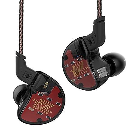 Auricular Auricular Auricular KZ ZS10 4BA 1 Dinámico Híbrido HI FI DJ Monitor En Auriculares (con micrófono, Negro): Amazon.es: Electrónica