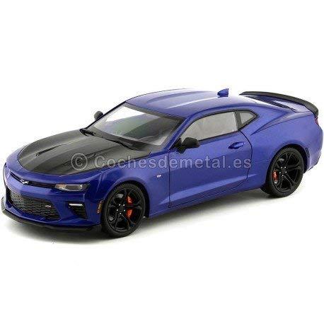 2017 Chevrolet Camaro SS 1LE Blue-Black 1:18 Auto World AW241
