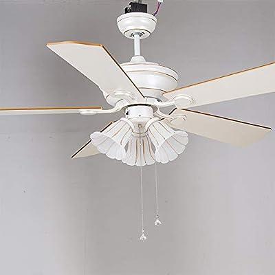Ventilador de techo Lámpara de ventilador LED Ventilador de techo silencioso Moderna hoja de madera Ventilador con interruptor de tracción,42inch: Amazon.es: Bricolaje y herramientas
