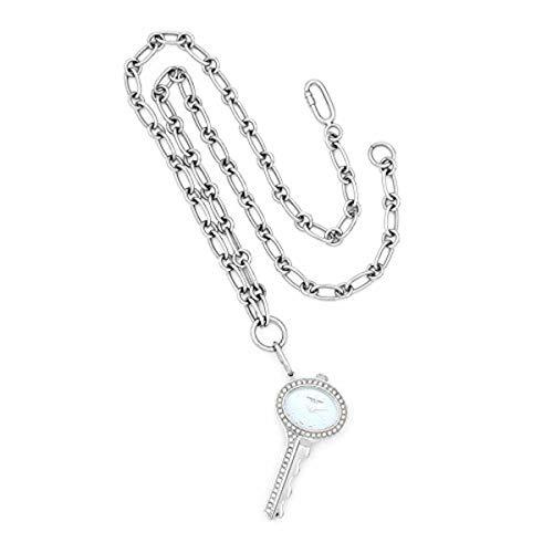 Charles-Hubert, Paris Women's 6721-E Key-Shape Swarovski Crystal Steel Pendant Watch
